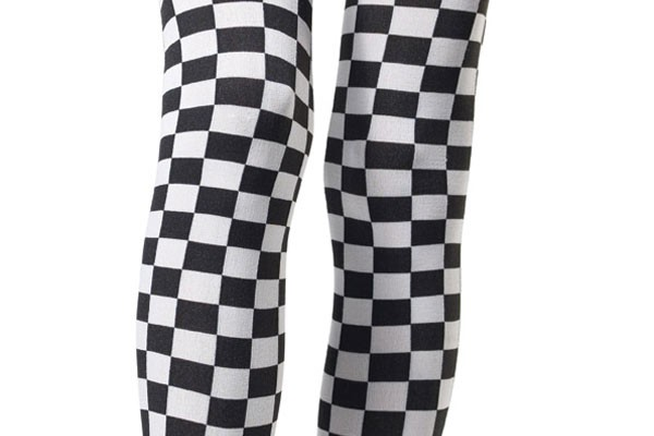 Checkered-Thigh-Highs
